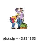 園芸をする夫婦 43834363
