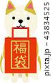 福袋 犬 福袋セールのイラスト 43834525