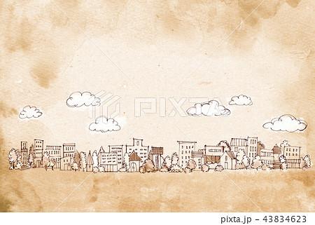 街並 手描きイラスト 43834623