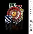 カジノ カジノの ルーレットのイラスト 43834707