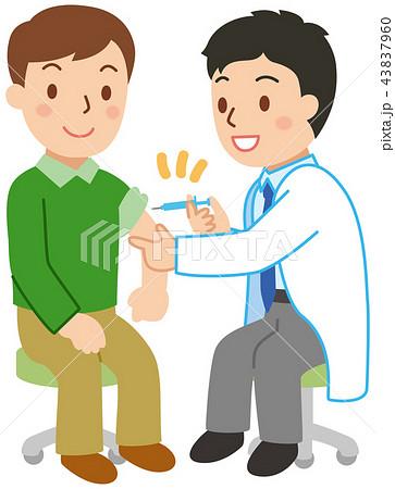 注射をする若い男性 43837960
