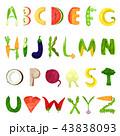 アルファベット ベクトル レターのイラスト 43838093