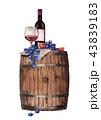 ワイン ぶどう ブドウのイラスト 43839183