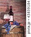 ワイン ぶどう ブドウのイラスト 43839184
