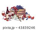 ワイン ぶどう ブドウのイラスト 43839246