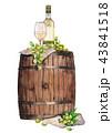 ワイン ぶどう ブドウのイラスト 43841518