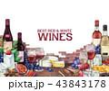ワイン ぶどう ブドウのイラスト 43843178