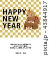 年賀状 猪 亥のイラスト 43844917