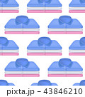 Realistic Detailed 3d Clothing Piles Shirt Stack Seamless Pattern Background. Vector 43846210