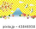 富士山 ベクター 菊のイラスト 43846938