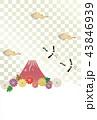 雲 富士山 ベクターのイラスト 43846939