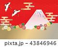 雲 富士山 ベクターのイラスト 43846946