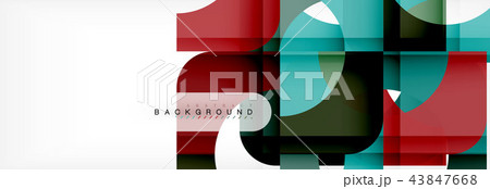 Colorful squares composition abstract banner. Illustration for business brochure or flyer 43847668