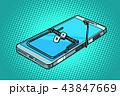 スマートフォン フォン トラップのイラスト 43847669