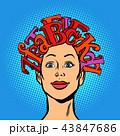 髪 毛 ヘアのイラスト 43847686