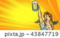 オクトーバーフェスト ビール 昔ながらのイラスト 43847719