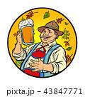 ビール オクトーバーフェスト 男のイラスト 43847771