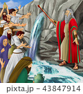 モーセとメリバの水イメージ 43847914