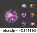 ディスコ ボール 玉のイラスト 43848398