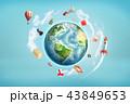 地球 立体 3Dのイラスト 43849653