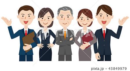 男女 ビジネスチーム 43849979
