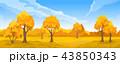 景色 風景 秋のイラスト 43850343