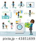 女の子 学生 黒人のイラスト 43851699