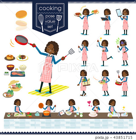 flat type School girl Black_cooking 43851715