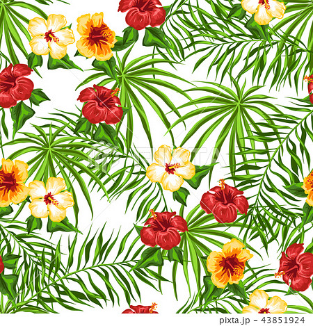 Tropical seamless pattern. 43851924