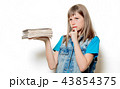 young teenage girl with books  43854375