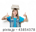 young teenage girl with books 43854378