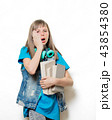 portrait of young teenage girl with books 43854380