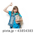 portrait of young teenage girl with books 43854383