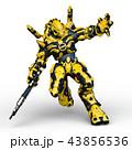 CG 3d ロボットのイラスト 43856536