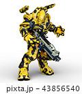 CG 3d ロボットのイラスト 43856540