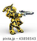 CG 3d ロボットのイラスト 43856543