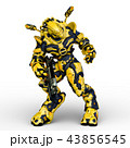 CG 3d ロボットのイラスト 43856545