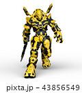 CG 3d ロボットのイラスト 43856549