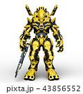 CG 3d ロボットのイラスト 43856552
