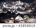 白川郷 ライトアップ 冬の写真 43858919