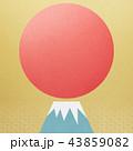 背景-富士山-日の出 43859082