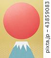 背景-富士山-日の出 43859083