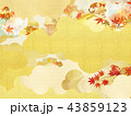 金箔 雲 背景のイラスト 43859123