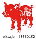 赤色の豚 - 花の装飾 43860152