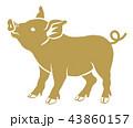金色の豚 - 横向き 43860157