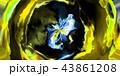 鮮豔細緻的碎形藝術紋理背景(高解析度 3D CG 渲染∕著色插圖) 43861208