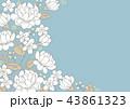 花 バラ フレームのイラスト 43861323