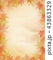 紅葉 和風 紅葉狩り 和柄 もみじ フレーム 古紙 43863329