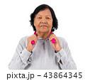 痛い 老人 シニアの写真 43864345