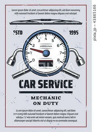 Car service and mechanic diagnostics 43865166